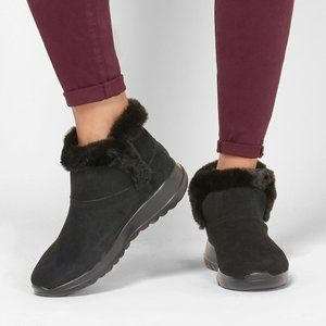 SKECHERS On The Go Joy Bundle Up Suede Ankle Boots